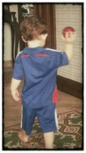 Bowling coaching at 6:30.  You need to get that arm straighter, son.
