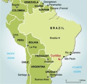 Curitiba-map-brazil