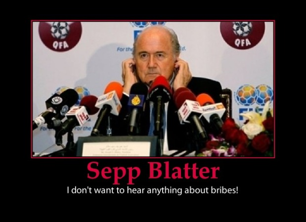 I hate this man (http://www.e-forwards.com/2011/05/fifa-sepp-blatter-and-bribes/)
