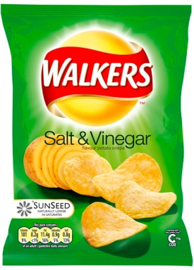 Salt and vinegar should always have a green packet.