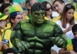 Brazilian Hulk fan at Confederations Cup
