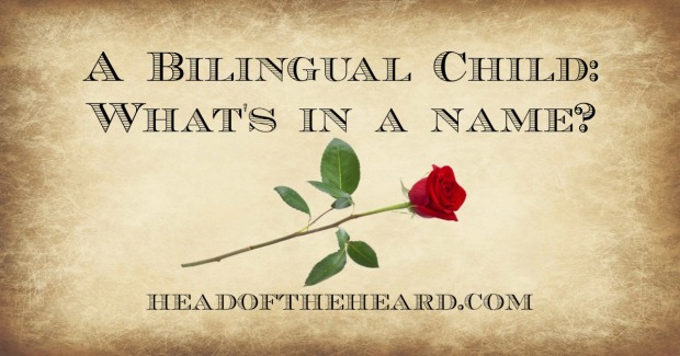 The names a bilingual child has for his father